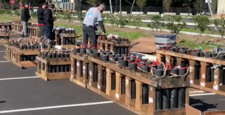 Biden prepare fireworks at his headquarters