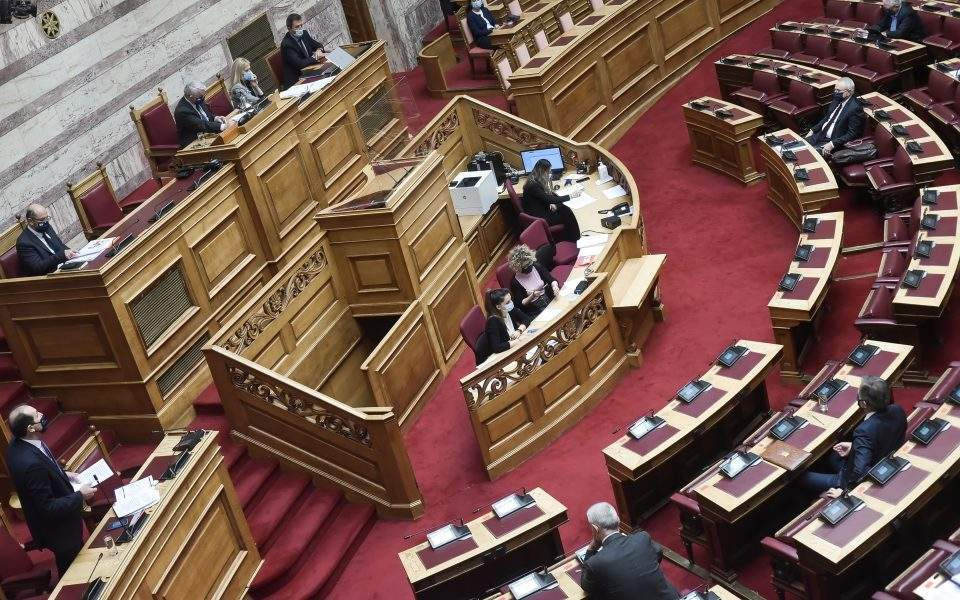 Heated debate in the Greek parliament on the discussion of the budget for 2021