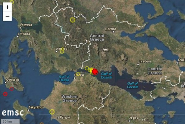 Magnitude 5.2 earthquake hits Greece