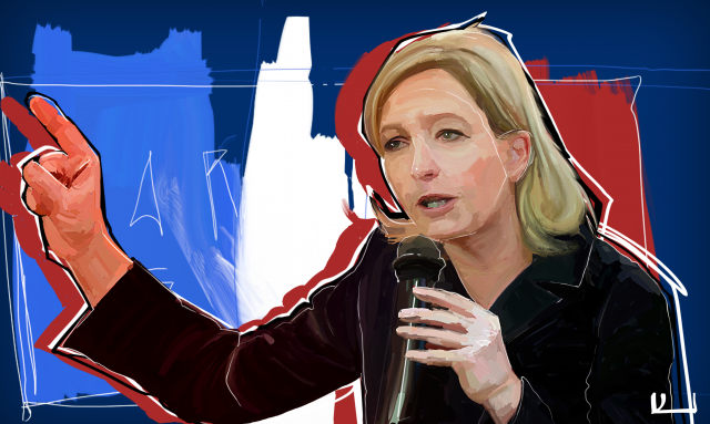 Election of the President of France. Marine Le Pen predicts the lead in the 1st round