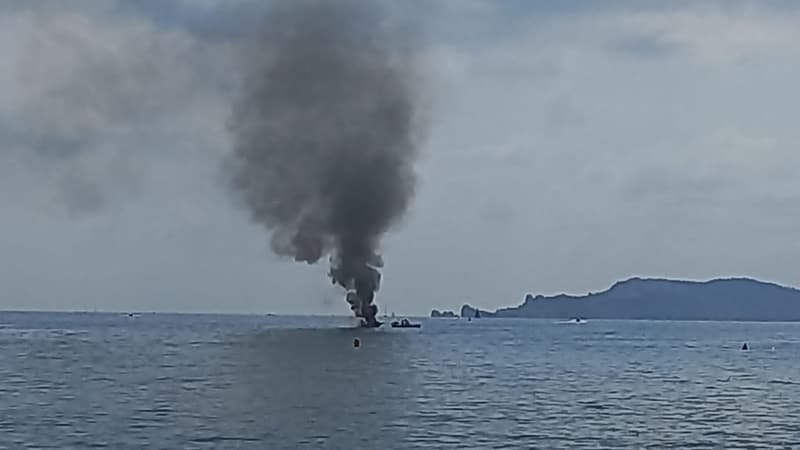 In southeast France, three people were injured in an explosion on a ship